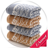 china supplier wholesale super soft jacquard children face towel with lace