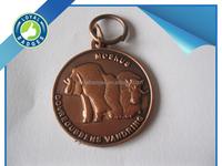 Custom antique copper plated religious medal