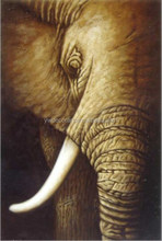 Large size Elephant Oil Painting On canvas