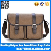 2015 High Quality Laptop Bag Leather Men's Shoulder Bags,Canvas Shoulder Bag,Canvas Messenger Bag