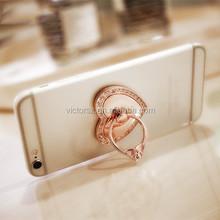 Luxury love heart shape diamond metal ring phone holder /tablet bracket