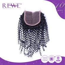 Comfort Real Human Hair Curly Straight Lace Bohemian Kinky Closures With Free Closure