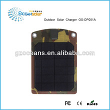 Canton Fair Newest flexible outdoor solar charger portable thin film panel OS-OP051A waterproof solar panel 5V output