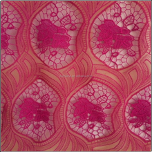 High quality wonderful design lace rose fabric lace