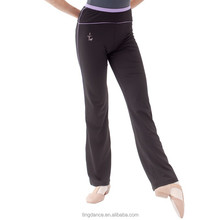 adult narrow edging cotton long Yoga pant with assorted color