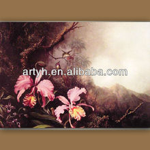 Pop Handmade Canvas Art Orchids painting