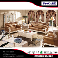 Good quality new model simple leather living room furniture for sale