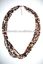 6-0 brown seed beads handmade necklace 2012
