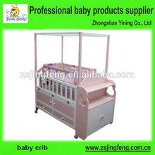 de madera sólida del bebé cuna cuna con gavetadealmacenamiento