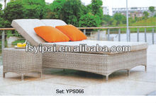 Foshan Outdoor Rattan Beach Beds with tea table YPS066