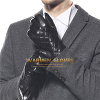 Elma Men's Thinsulate Quilted Winter Iphone Ipad Smart Phone Touch Screen Nappa Leather Gloves
