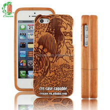 Wood Phone Case,Novel Design For Iphone5 With Wild Eagle Pattern,Case For Moblie Phone