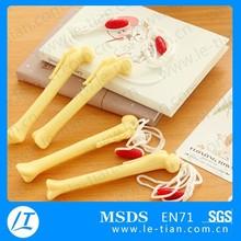 LT-Y1059 promotional pen with rope, bone shape ball pen