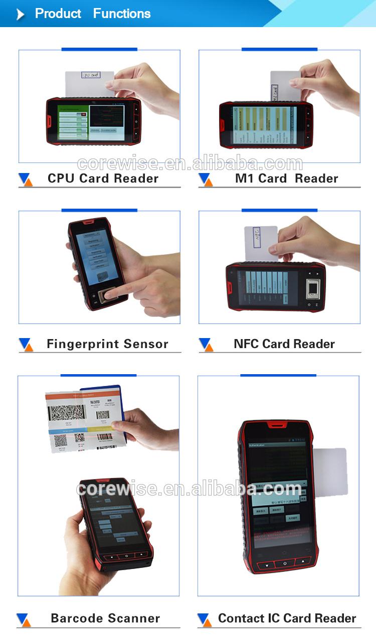안드로이드 휴대용 휴대 전화 4 그램 블루투스 와이파이 1d 2d 바코드 스캐너 터치 스크린 터미널 qr 바코드 리더 Pda