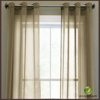 High Quality 100% Polyester Blackout Curtains with Sheer