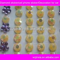 Shinny Acrylic diamond sticker,diamond home button sticker