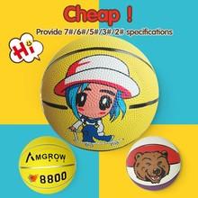 Factory direct saling rubber basketball mini,with cartoon indoor basketball