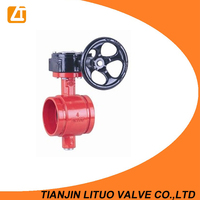 fire protection Grooved type Butterfly Valve 300PSI