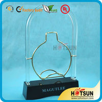 alibaba gold supplier acrylic wine display stand for interior decoration