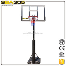 pole height folding basketball base