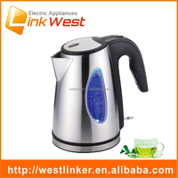 cordless wide mouth stainless steel electric kettle with water level window