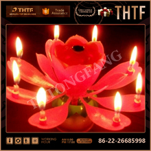 hot sale 2015 lotus flower music fireworks birthday cake candle with high quality and cheapest Price