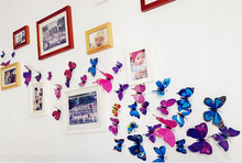 12 Pcs/set Brand New 3D Butterfly Wall Stickers Home Decoration Decals Three Dimensional Wall Stickers
