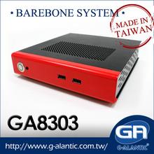 GA8303 mini industrial pc barebone desktop