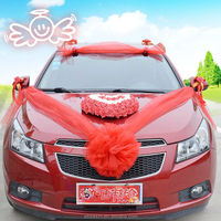 Hot sale cheap artificial rose heart wedding car decoration
