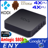 Amlogic s802 MXQ Android4.4 Google Internet Android 4.4 KiKat 1080p Quad Core TV Box