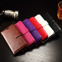 Fashion wallet card leather case for Sony xperia Z4 compact
