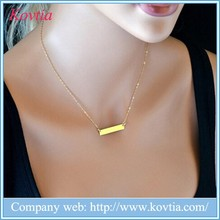 Gold Metal bar necklace simple chain necklace bijouterie personalized designs necklaces