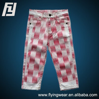customized Children Cotton Colorful Pants,Girls jeans pants