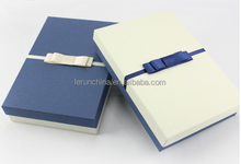classics white paper folding box with black embossing and black stamping