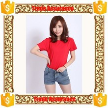 Hot Sale WomenT Shirt,Trade assurance Cotton Dry Fit Loose T Shirt Plain red Wholesale various color can custom women's T-Shirt
