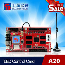 led moving message sign controller work for outdoor full color led display support display time temperature and humidity
