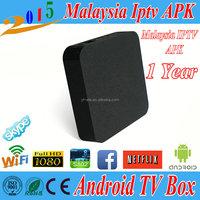 Malaysia iptv box 2015 Android 4.4 IPTV Malaysia IPTV Box Astro HD Channel 1/3/6/12 months HDTV MyIptv