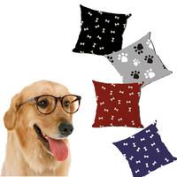 0520L-01 bone printed bed cushions paw printed bed cushions Dog Pet Cushion Mat