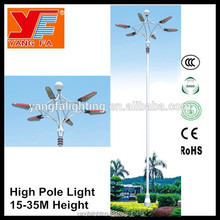 led high mast light with electric lifting pole price for airport highway square basketball court