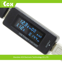 KCX QC2.0 power bank discharge voltage current tester meter mobile phone battery testing equipment