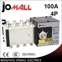 wenzhou hot sale manufactory 100amp 4 pole 3 phase automatic transfer switch ats