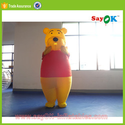 giant inflatable bear costume inflatable teddy bear with red clothes