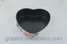 new products 2014 ,25.5cm Loose Base Heart Shape spring form cake pan