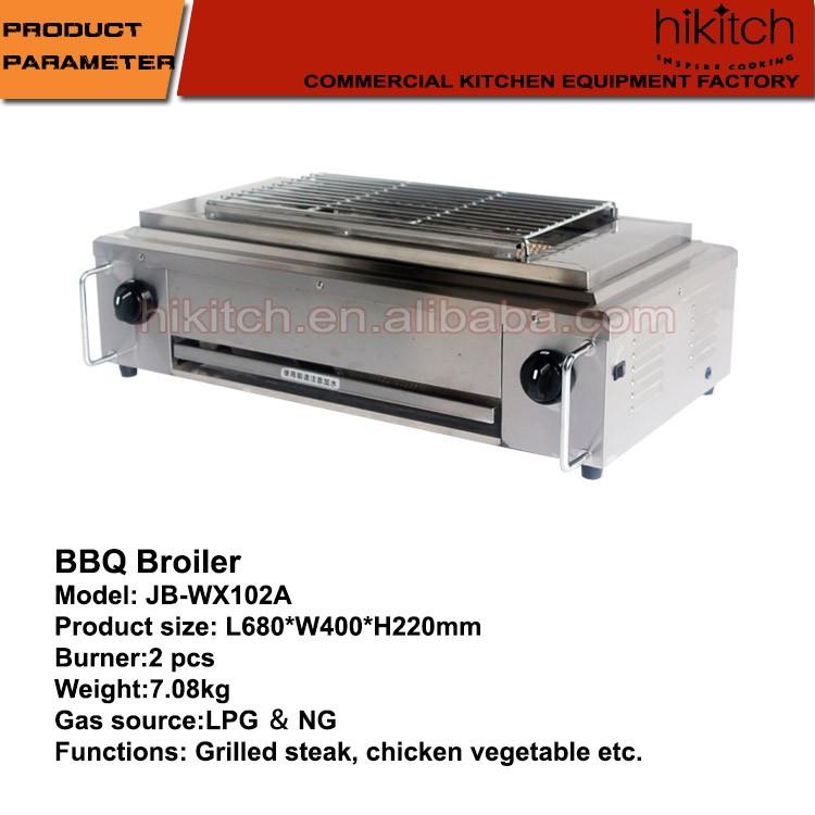 Barbecue gaz grill grill gaz en acier inoxydable table for Equipement de cuisine commerciale