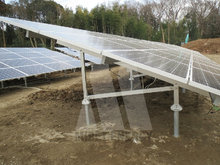 All Aluminum Ground Solar Mounting System Bracket with Concrete Base or Ground Screw -- MRac GT III