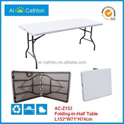 5ft portable plastic camping table folding table