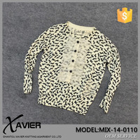 MIX-14-0110 OEM Custom Kids cashmere Sweater Child Clothing with stamp pattern sweet child clothing