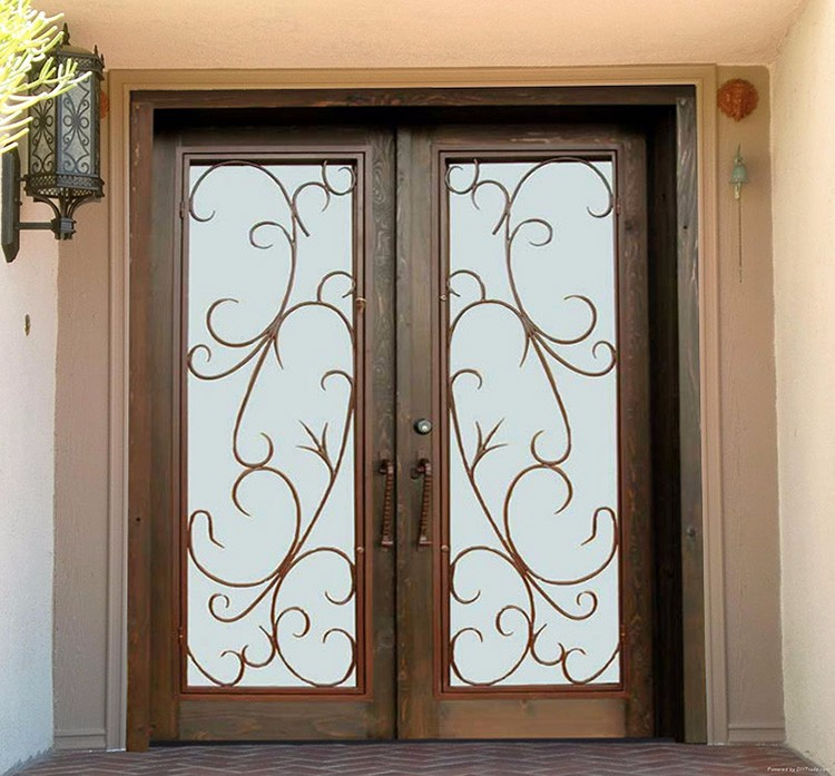 Entrance Design Front Doors For Home Glass External Doors Wrought