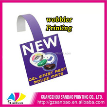 Hot! Wholesale Custom PVC Supermarket Circle Hanging Dangler Advertising Promotional Shelf Wobblers