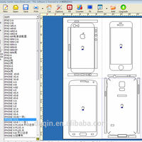 Latest cell phone skin cutting software mobile skin templates for mobile stickers